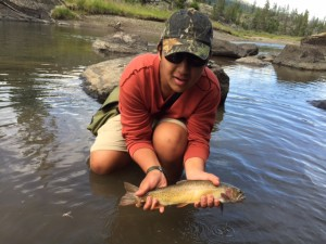 Nick with one of the more colorful Yellowstone Cutthroat we pulled from Slough Creek.