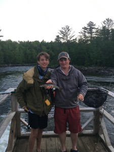 Walker celebrated his birthday with red velvet cake and the best fishing of the trip. He caught several nice salmon during the evening hatch and had a monster brook trout on before it broke free.